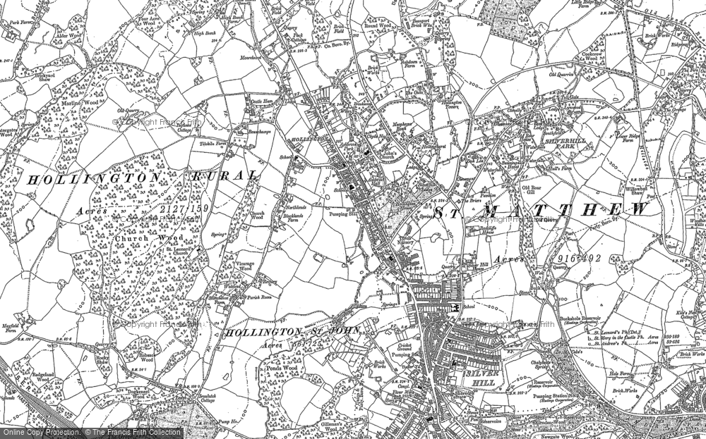 Old Map of Historic Map covering Baldslow in 1908