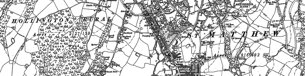 Old map of Baldslow in 1908