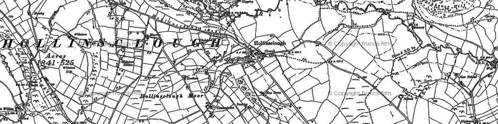 Old map of Fawside Edge in 1897
