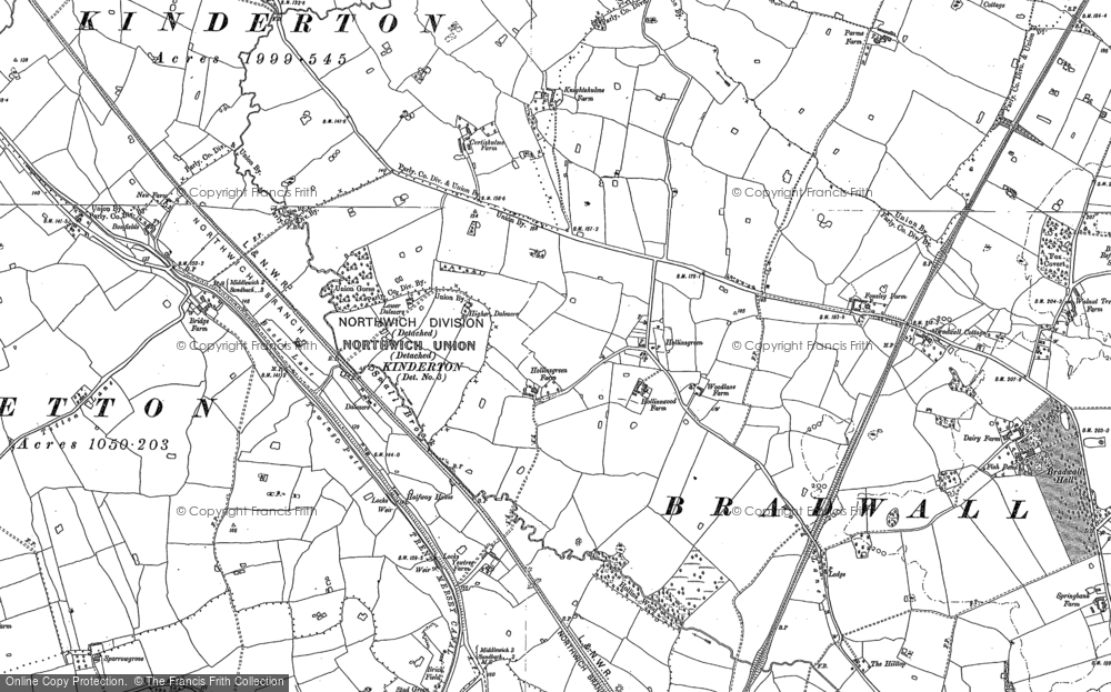 Old Map of Hollinsgreen, 1897 in 1897
