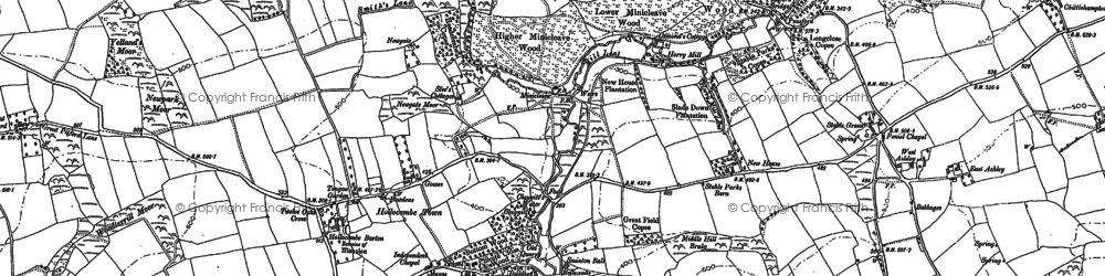 Old map of Woodroberts in 1886