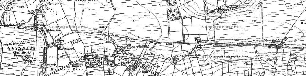Old map of Ash Cabin Flat in 1901