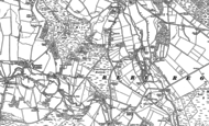 Old Map of Hollow Oak, 1887