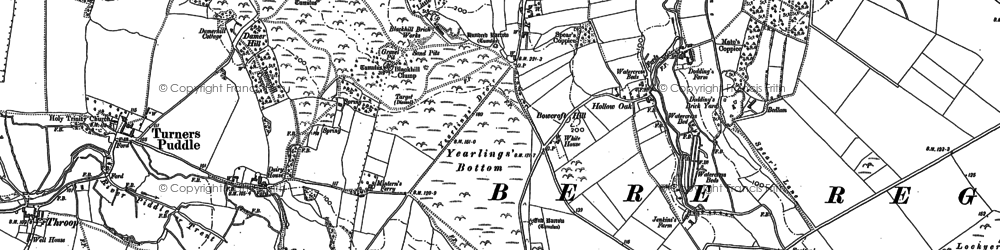 Old map of Yearlings Bottom in 1887