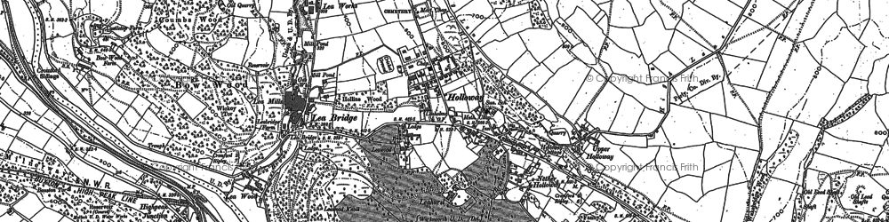 Old map of Holloway in 1878