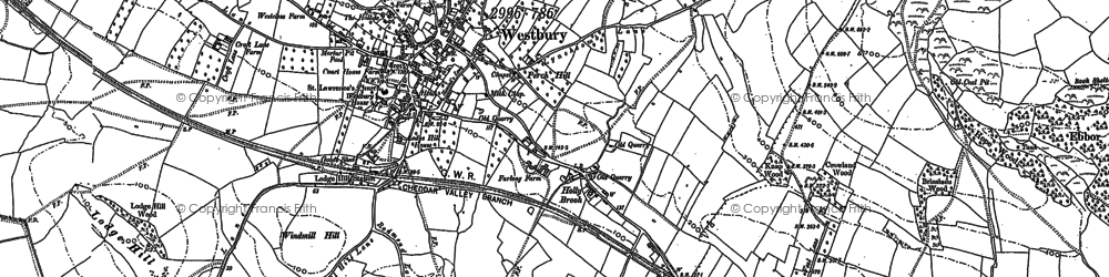 Old map of Windmill Hill in 1884