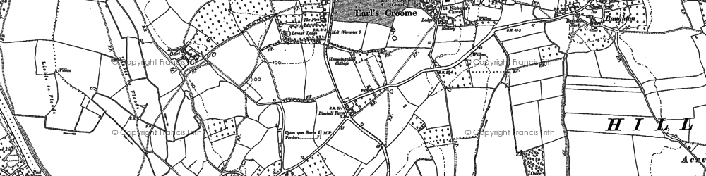 Old map of Upton upon Severn in 1883