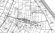 Old Map of Hollym, 1908