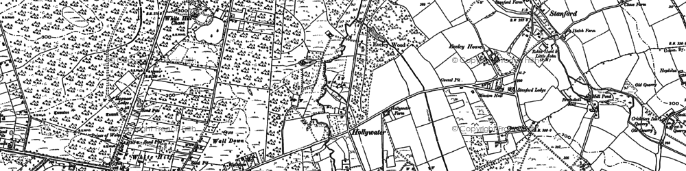 Old map of Woolmer Forest in 1909