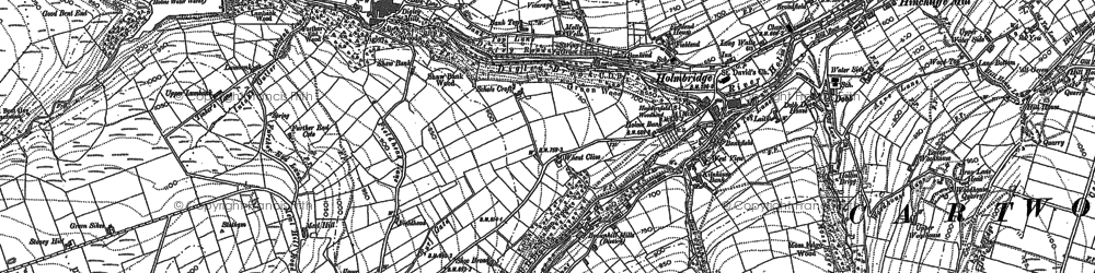 Old map of Holmbridge in 1888