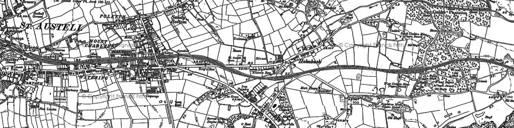 Old map of Bethel in 1881