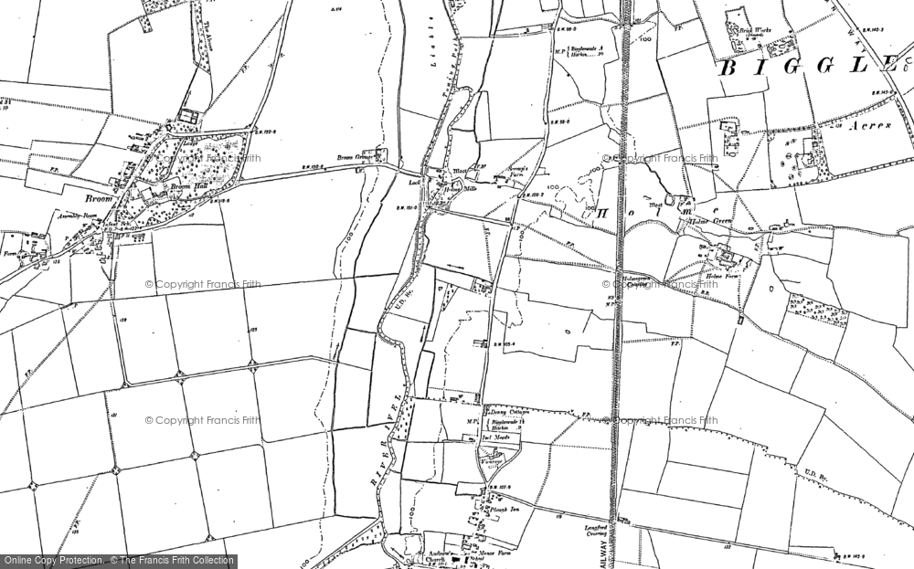 Old Map of Holme, 1882 - 1900 in 1882