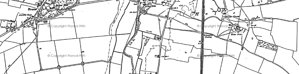 Old map of Holme in 1882