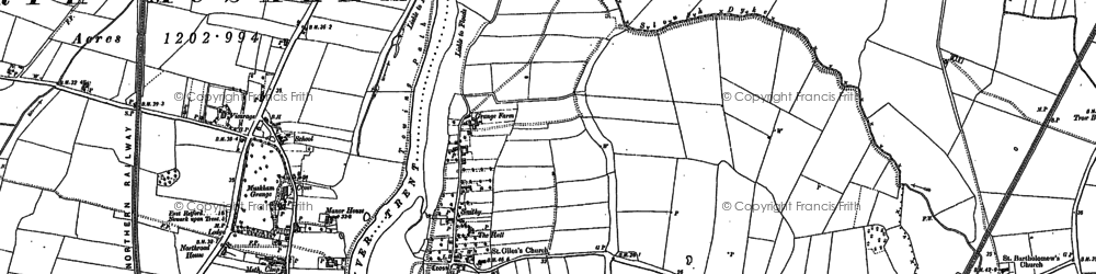 Old map of Holme in 1884