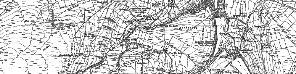Old map of Holme in 1888