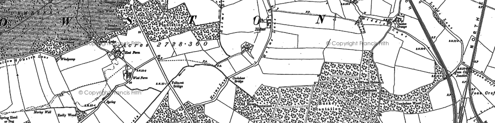 Old map of Tilts in 1891
