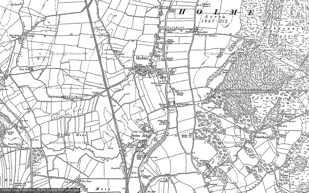 Old Map of Historic Map covering Limestone Link in 1911