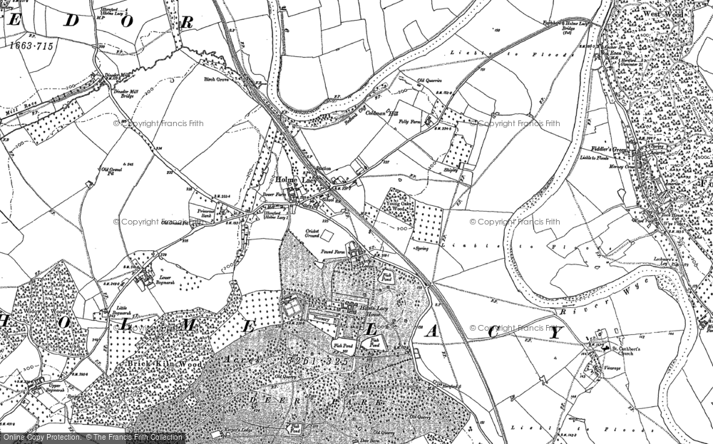 Old Map of Holme Lacy, 1886 - 1887 in 1886