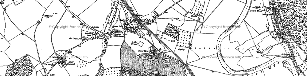 Old map of Holme Lacy in 1886