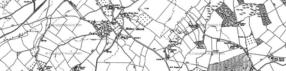 Old map of Woonton Ash in 1885