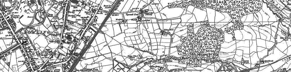 Old map of Tong Street in 1890