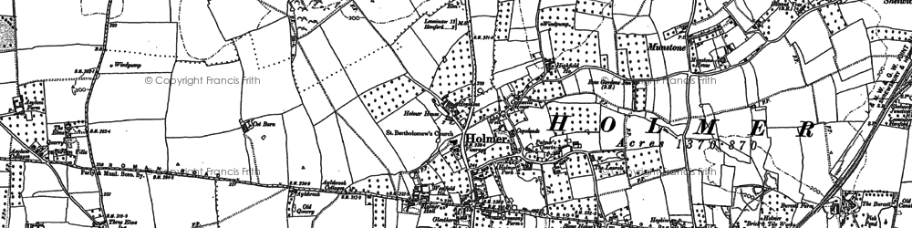 Old map of Widemarsh in 1885