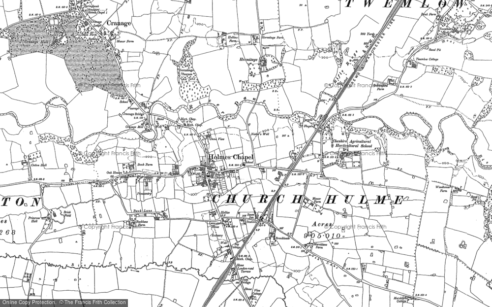 Old Map of Holmes Chapel, 1897 in 1897