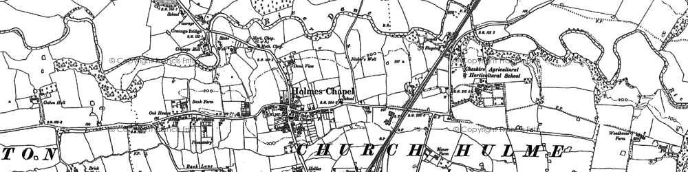 Old map of Holmes Chapel in 1897