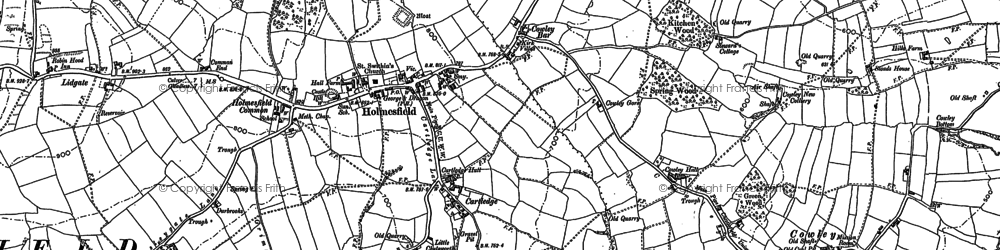 Old map of Woodthorpe Hall in 1876