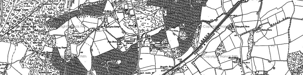 Old map of Anstie Grange in 1895