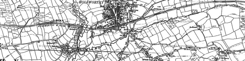 Old map of Whimble in 1883