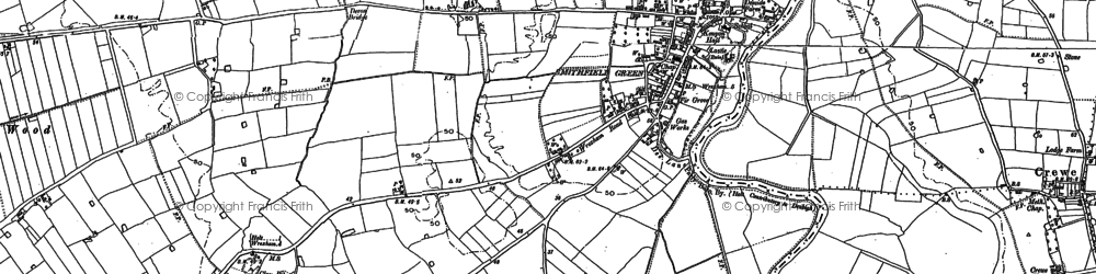 Old map of Holt in 1909