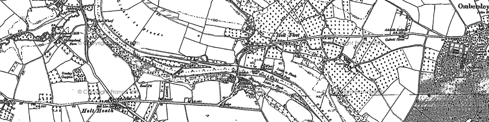 Old map of Holt Fleet in 1883