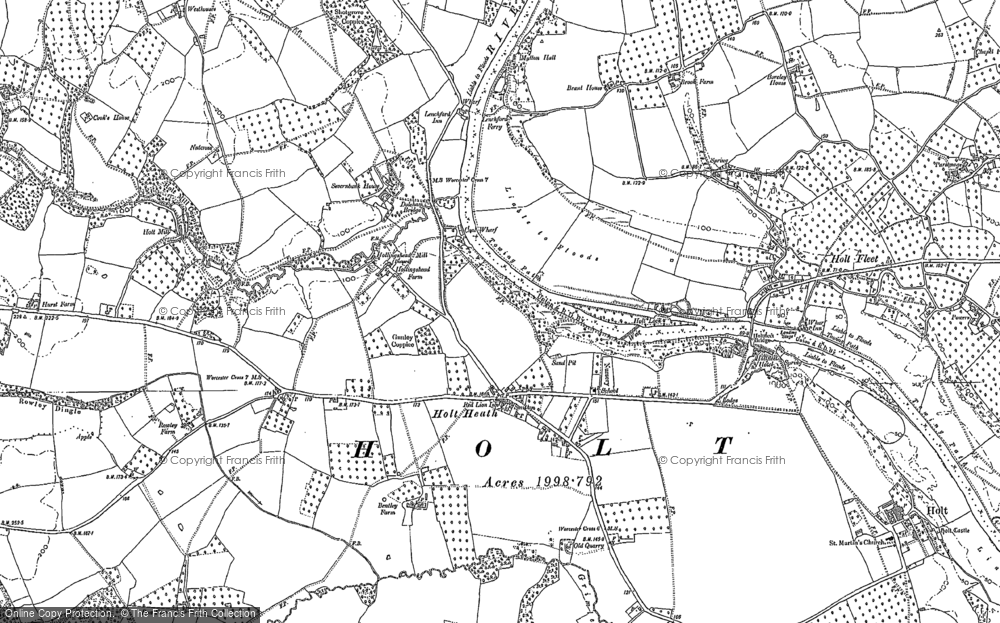 Old Map of Holt Heath, 1883 - 1884 in 1883