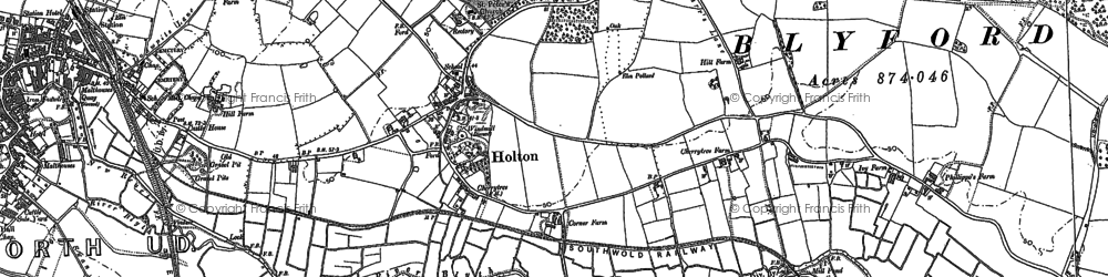 Old map of Holton in 1883