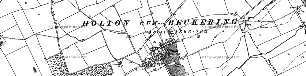 Old map of Wickenby Aerodrome in 1886