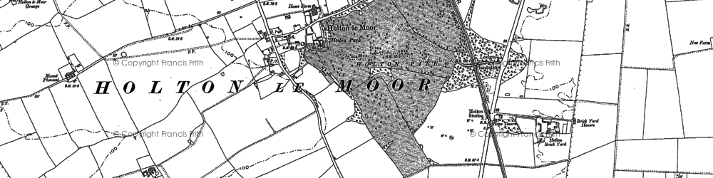 Old map of Yewfield in 1886