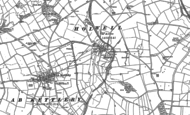 Old Map of Holwell, 1883 - 1902