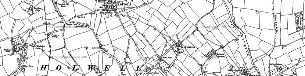 Old map of Westrow in 1886