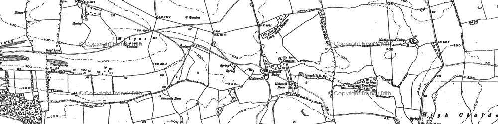 Old map of White Nothe in 1886