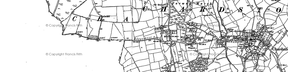 Old map of Whitehouse in 1903