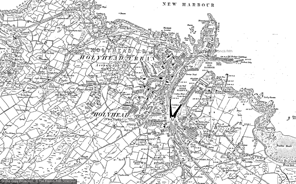 Map of Holyhead, 1899