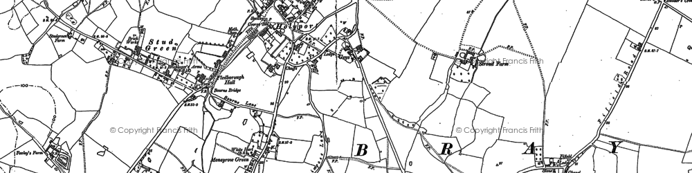 Old map of Holyport in 1910