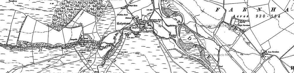 Old map of Wood Hall in 1895
