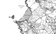 Old Map of Holywell Bay, 1906