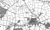 Old Map of Holywell Hall, 1886 - 1887