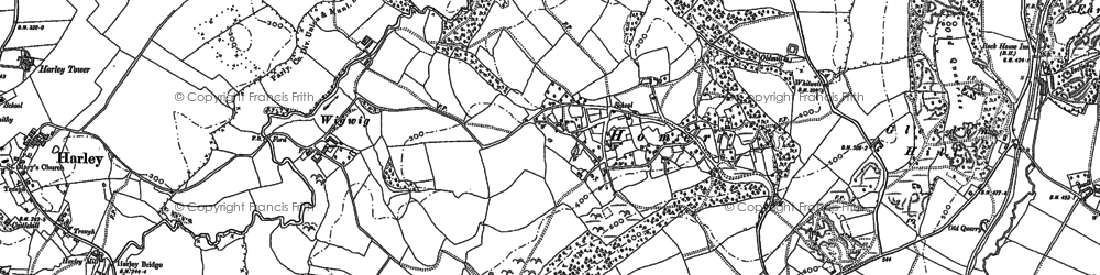 Old map of Whitwell Coppice in 1882