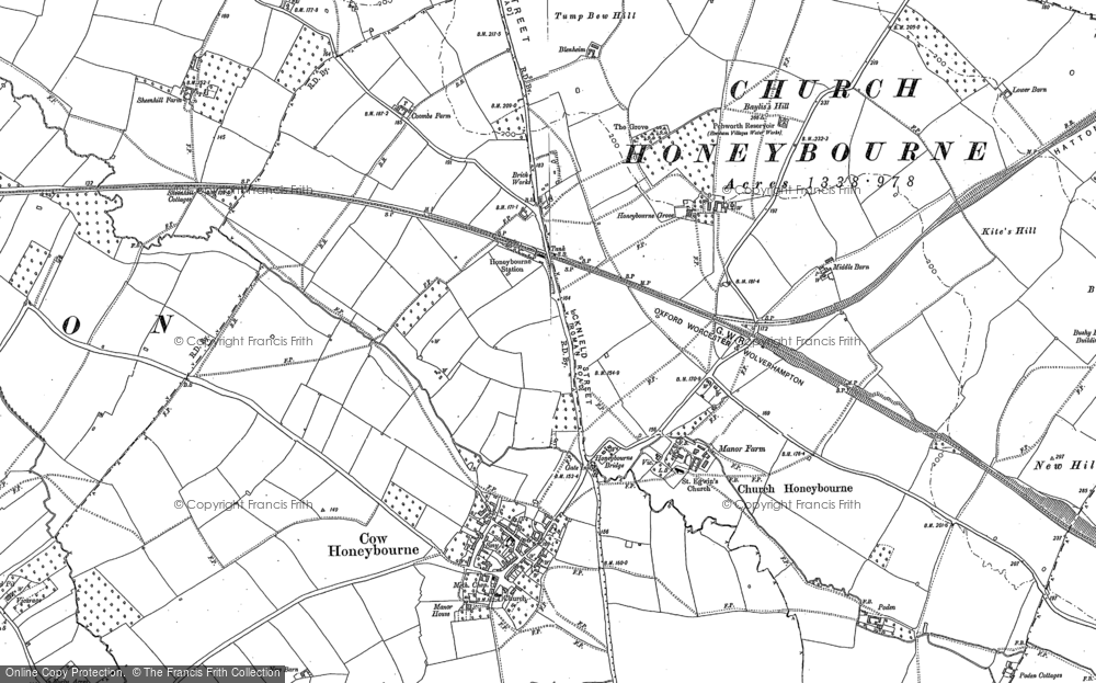 Old Map of Historic Map covering Larkborough in 1883