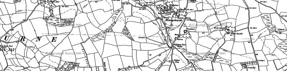 Old map of Langmead in 1886