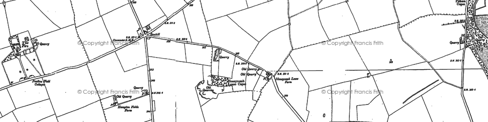 Old map of Toms Copse in 1876